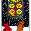 five-pentacles